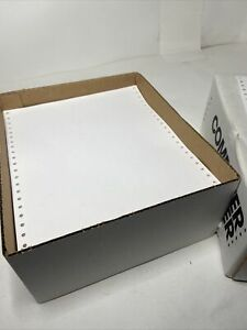 Continuous Feed Computer Paper Pin Tractor Fed 9.5 x 11 Dot Matrix Office Max