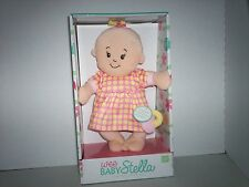 MANHATTAN TOY COMPANY WEE BABY STELLA PLUSH DOLL MAGNETIC PACIFIER