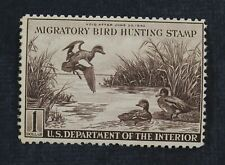 CKStamps: US Federal Duck Stamps Collection Scott#RW9 $1 Unused Regum Tiny Thin