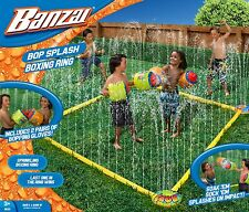 Banzai Bop Splash Water Sprinkler Boxing Ring w/ 2 Pairs Inflatable Gloves NEW!