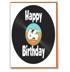 LP Vinyl Birthday Card Son Daughter Mum Dad Grandad Nan Husband Wife ANY AGE