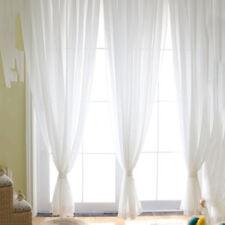 Assorted Plain Color Door Window Voile Rod Pocket Room Curtain Sheer Valance