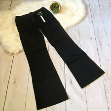 White House Black Market Pants Blanc Black Trouser Leg Flare SZ 2 New! Stretch