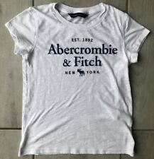 Abercrombie & Fitch Womens T-Shirt White Heathered Short Sleeve Scoop Neck XXS