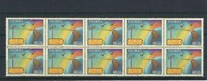 TELEGRAPH AND SATELLITES OVER SOUTH AMERICA    10  STAMPS  MNH  COLOMBIA 1965