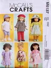 """18"""" GIRL DOLL CLOTHES McCall's Sewing Pattern 6137 American Made NEW Uncut"""