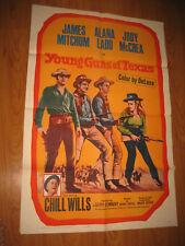 Young Guns of Texas Original 1sh Movie Poster