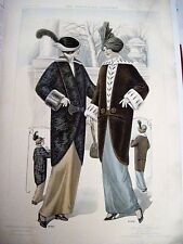 """October 1931 """"The American Furrier"""" w Stunning Colored Plates of Furs And Hats *"""