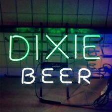 Vintage DIXIE BEER Bar Pub Real Glass Neon Light Sign Collectible Collectible