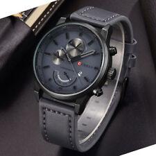 Montre Militaire Pour Homme Curren Quartz Bracelet Cuir Date Fashion Men Watch