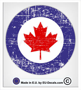 100mm-4'' Distressed Canadian Air Force Laminated Decal Sticker vespa scooter