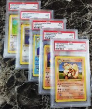 Pokemon PSA 9 Halfway Complete 1st edition GRAY GREY Stamp Non-Holo Set 35 Cards