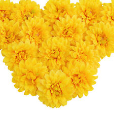 15 Pcs/set Artificial Chrysanthemum Fake Flower Heads Hat Ornament Wedding Decor