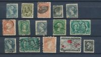 CANADA : Lot of 15 very old Stamps . Good used stamps High CV$400 A2067