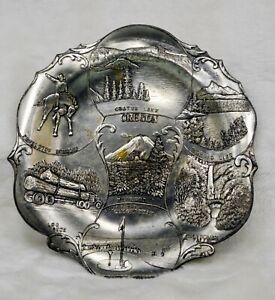 "Vintage 1950-60's ""OREGON"" Metal Souvenir Ashtray/Trinket Dish"