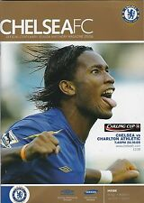 Football Programme>CHELSEA v CHARLTON ATHLETIC Oct 2005 Carling Cup