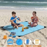 Extra Large No Sand Beach Mat Rug Picnic Blanket Waterproof Camping Travel Pack