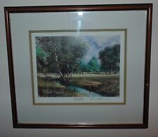 On The Fairway Limited Edition Print Signed Terry Harrison  Framed Picture