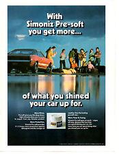 1968 AMC JAVELIN SST  ~  ORIGINAL SIMONIZ CAR WAX AD