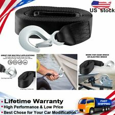 """Deluxe Boat Trailer Replacement Winch Strap 2"""" X20' 10000LB With Snap Hook Quick"""