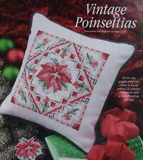 New ListingVintage Poinsettias, Cross Stitch Pattern, Beautiful Christmas Floral Design