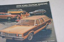 1978 Ford Station Wagons Factory Sales Brochure
