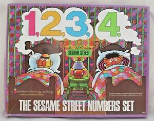 The Sesame Street Numbers Set Colorforms #2369 1973 Rare Complete