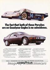 1985 Porsche 928 Race GoodYear Original Advertisement Print Art Car Ad J674