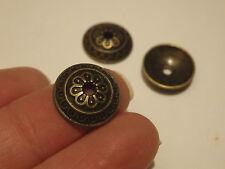 10 bead caps bronze antique vintage jewellery making wholesale UK craft