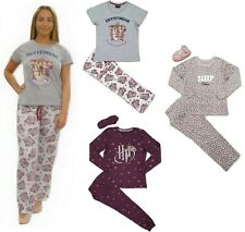 Ladies Womens Harry Potter Pyjamas Eye Mask Animal Leopard Ex Chain Slogan 8-22