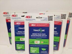 Lot 5 of Tracfone Talk Text Data Triple-Cut 4G LTE Sim Kit GSM LTE No Phone
