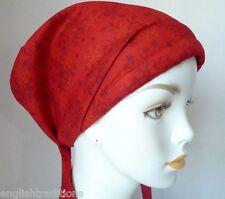 Chemo Cancer Hat Alopecia Hair Loss Scarves Turban Head Wrap Red Snowflake Cap