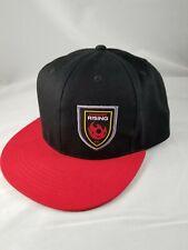 New listing Phoenix Rising Soccer Hat  FC Cap Football AZ Club Hat Black Red Snapback New