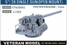 "VETERAN 1/350 VTW-35001 5""/38 SINGLE GUN (OPEN MOUNT) (4 pcs in Box)"