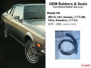 OEM Door Window Weather Strip Rubbers (Mazda Rx-5 / Rx5 / 121 / 121L / CD Cosmo)