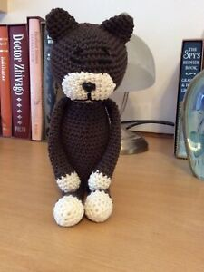 Handmade Toys.crochet Cat.handmade Crochet Cat.100%cotton.multicoloured.toy Cat