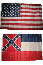Wholesale Combo Lot of 3x5 USA Flag & State of  Mississippi 3x5 2 Flags Banner