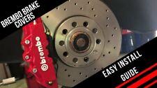 6 X Brembo Car Brake Caliper Stickers Decals Vinyl WHITE