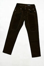 JECKERSON LADIES STRAIGHT Dark Brown Chocolate JEANS Denim Trousers W30 Uk12 FAB