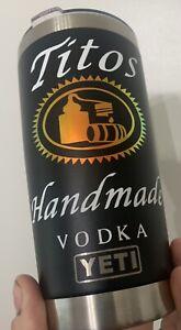 Tito's Vodka Tumbler 20oz Handmade Custom Mug Black  I New Ships Fast
