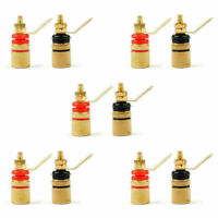 10PCS 4mm 307 Gold Plated Terminal Binding Post Banana Plug Socket Connector F7