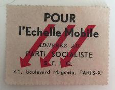 images et symboles du Parti Socialiste SFIO Pour l'Echelle Mobile  Socialiste