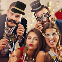 Happy New Year 2020 Christmas Photo Booth Prop Frame-Party Supplies  ! @!% z