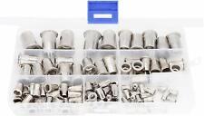 90pcs Stainless Steel Rivet Nuts Threaded Insert Nutsert Rivnuts Assortment Kit