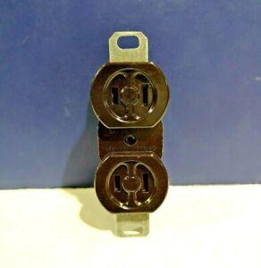 10-PK Rodale BROWN Duplex Receptacle Flush Bakelite w/ Standard Strap 625-B NEW