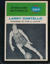 1961 FLEER LARRY COSTELLO POWERS IN FOR A LAYUP EX/MT  NATIONALS #48 CENTERED