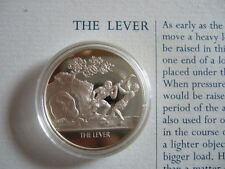 THE LEVER MANKIND INVENTIONS HALLMARKED SILVER PROOF MEDAL BY JOHN PINCHES