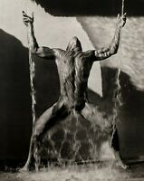 1988 Vintage HERB RITTS Surreal Male Nude Muscle Man Waterfall Photo Engraving