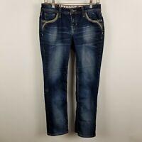 Hydraulic Lola Curvy Boot Cut Womens Dark Wash Blue Jeans Size 9/10