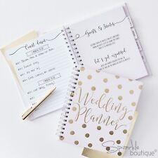 WEDDING PLANNER BOOK - PALE PINK WITH GOLD -Hardback Organiser- Engagement Gift